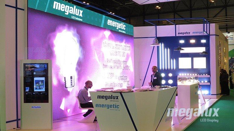 Megalux estrena la pantalla más grande de Ifema ePower & Building