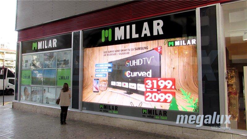 El centro comercial Alzamora estrena una espectacular pantalla LED Megalux