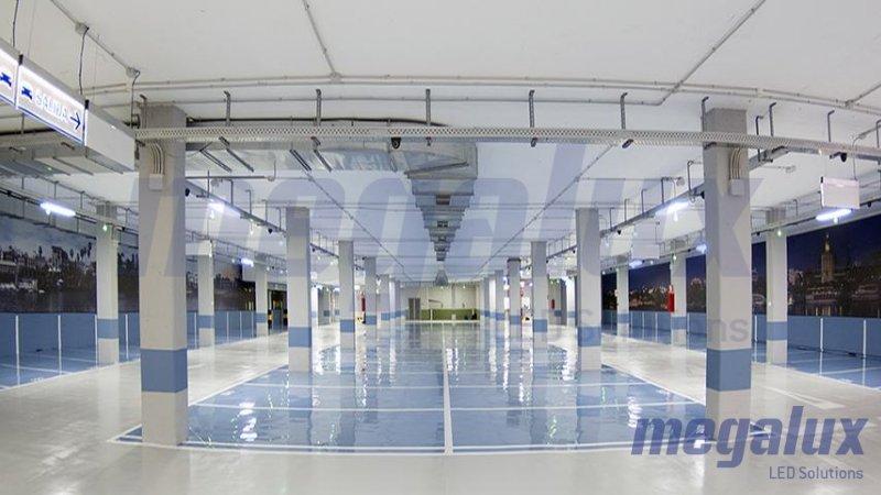 Multitud de parkings iluminados por Megalux en España